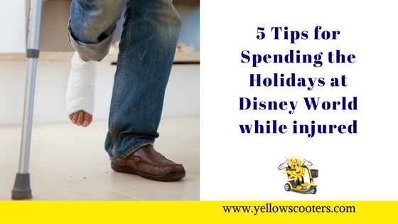 5 Tips for Spending the Holidays at Disney World While Injured