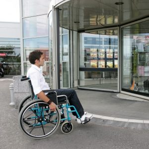 mobility scooter accessible business entrance